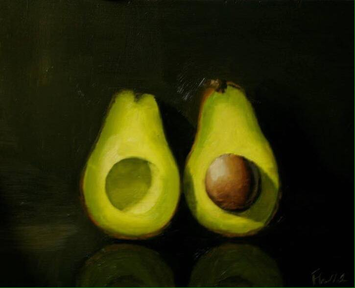 Avocado Oil on board 8x10 inches -Sold
